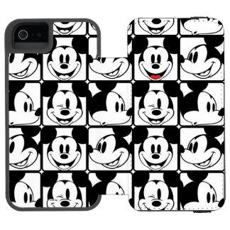 Mickey clásico hace frente funda cartera para iPhone 5 watson