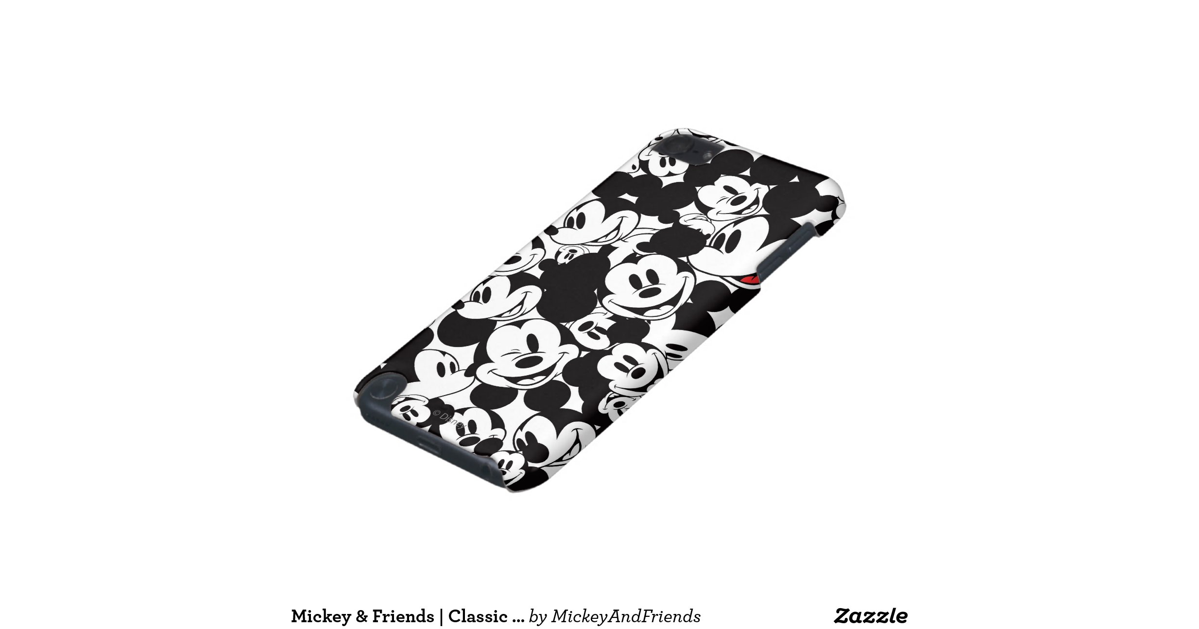 mickey crowd pattern ipod touch 5g case