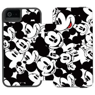 Mickey Crowd Pattern Incipio Watson™ iPhone 5 Wallet Case