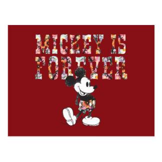 Mickey de moda el | para siempre postal