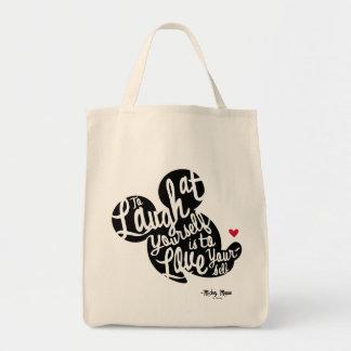 Mickey de moda el | se ríe bolsa tela para la compra
