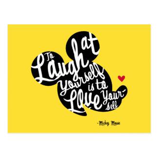 Mickey de moda el | se ríe tarjeta postal