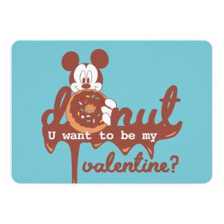 Mickey | Donut U Want to be My Valentine? Card