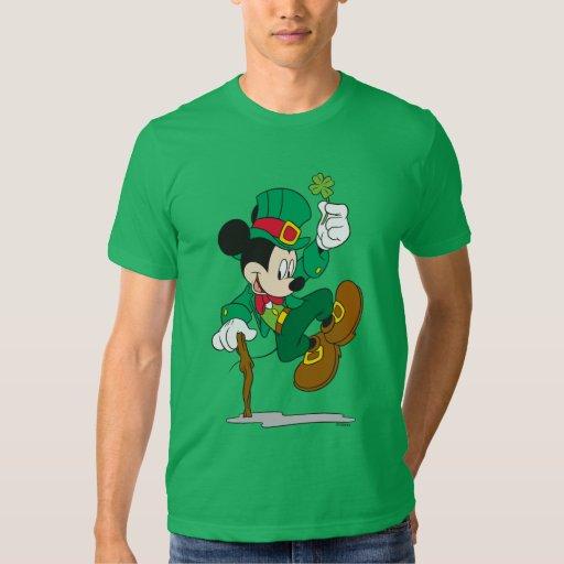Mickey el Leprechaun Playeras