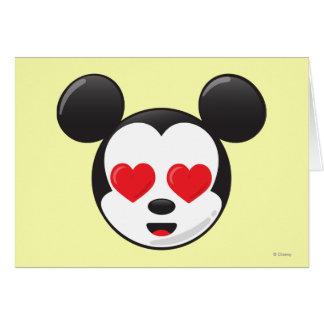 Mickey en amor tarjeta de felicitación