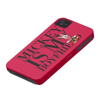 Mickey es mi novio iPhone 4 Case-Mate carcasas