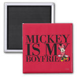 Mickey es mi novio iman de nevera