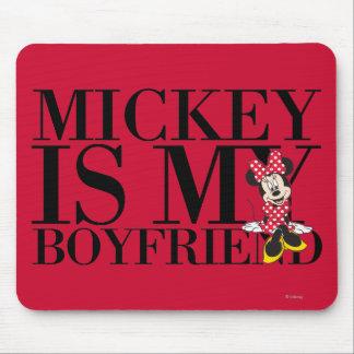Mickey es mi novio tapete de raton