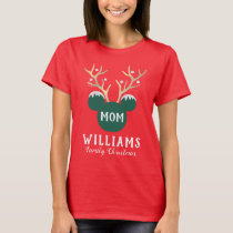 Mickey   Family Christmas - Mom T-Shirt