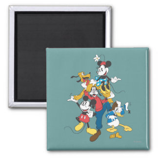 Mickey & Friends | Classic Group 2 Inch Square Magnet
