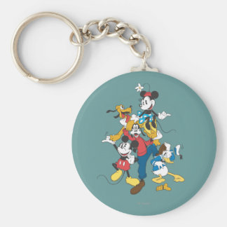 Mickey & Friends | Classic Group Basic Round Button Keychain