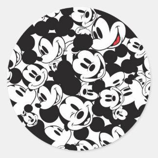 Mickey & Friends | Classic Mickey Pattern Classic Round Sticker