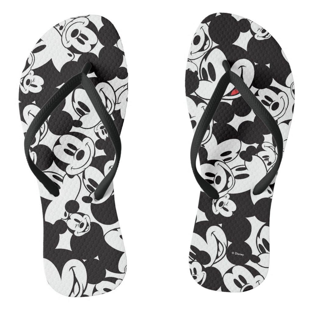 Mickey & Friends | Classic Mickey Pattern Flip Flops