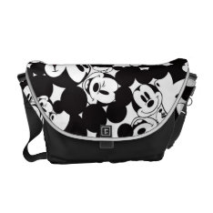 Mickey & Friends | Classic Mickey Pattern Messenger Bag at Zazzle
