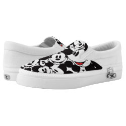 Slip-On Sneakers with Mickey Mouse Patterns design