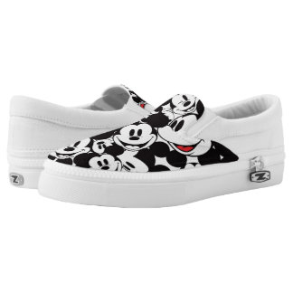 Mickey & Friends | Classic Mickey Pattern Slip-On Sneakers