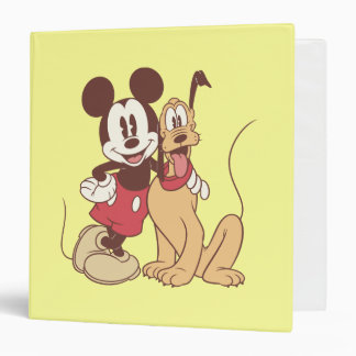 Mickey & Friends | Classic Mickey & Pluto 3 Ring Binder