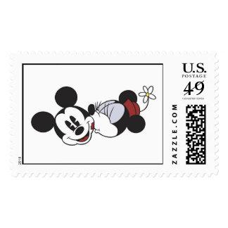 Mickey & Friends classic Minnie kissing Mickey Stamp