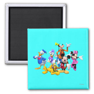 Mickey & Friends | Clubhouse 2 Inch Square Magnet
