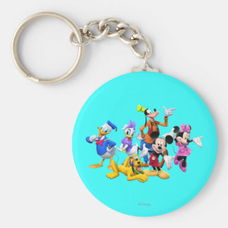Mickey & Friends | Clubhouse Basic Round Button Keychain