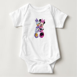 Baby Jersey Bodysuit with Daisy Duck and Minnie Mouse BFF Best Friends Forever design