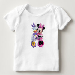 Daisy Duck and Minnie Mouse BFF Best Friends Forever Baby Fine Jersey T-Shirt