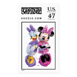 Large Stamp 2.5' x 1.5' with Daisy Duck and Minnie Mouse BFF Best Friends Forever design