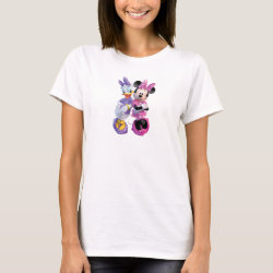 Women's Basic T-Shirt with Daisy Duck and Minnie Mouse BFF Best Friends Forever design