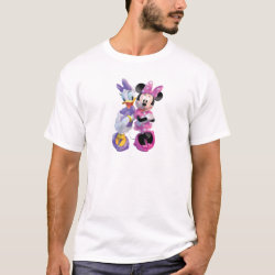 Men's Basic T-Shirt with Daisy Duck and Minnie Mouse BFF Best Friends Forever design