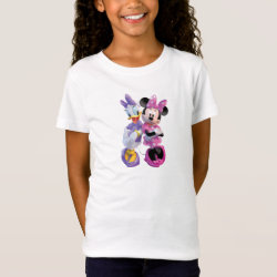 Girls' Fine Jersey T-Shirt with Daisy Duck and Minnie Mouse BFF Best Friends Forever design