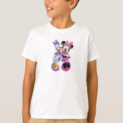 Kids' Hanes TAGLESS® T-Shirt with Daisy Duck and Minnie Mouse BFF Best Friends Forever design