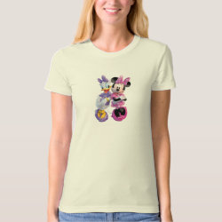 Women's American Apparel Organic T-Shirt with Daisy Duck and Minnie Mouse BFF Best Friends Forever design