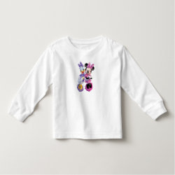 Toddler Long Sleeve T-Shirt with Daisy Duck and Minnie Mouse BFF Best Friends Forever design