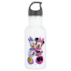 Water Bottle (24 oz) with Daisy Duck and Minnie Mouse BFF Best Friends Forever design