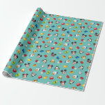 Mickey & Friends Emoji Pattern Wrapping Paper