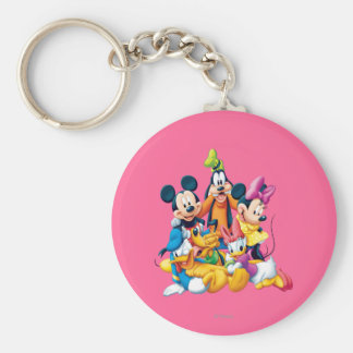 Mickey & Friends | Fab Five Basic Round Button Keychain