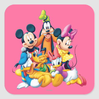 Mickey & Friends | Fab Five Square Sticker