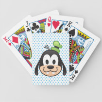 Mickey & Friends | Goofy Emoji Bicycle Playing Cards