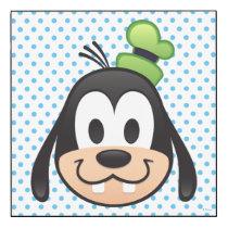 Mickey & Friends | Goofy Emoji Wood Wall Art