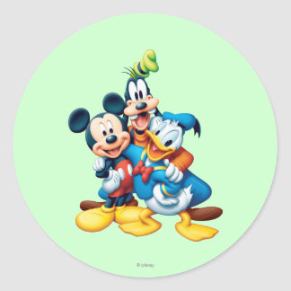 Mickey & Friends | Group Hug Classic Round Sticker