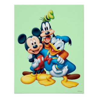 Mickey & Friends | Group Hug Poster