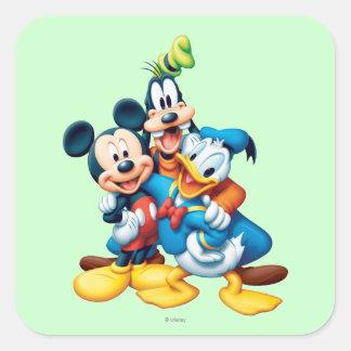 Mickey & Friends | Group Hug Square Sticker