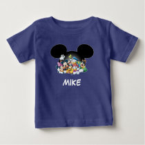 Mickey & Friends | Group in Mickey Ears 2 Baby T-Shirt