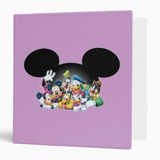 Mickey & Friends | Group in Mickey Ears 3 Ring Binder