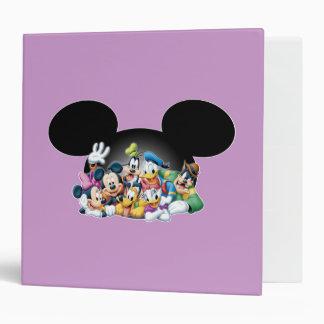 Mickey & Friends | Group in Mickey Ears Binder