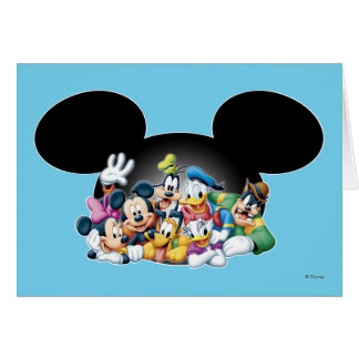 Mickey & Friends | Group in Mickey Ears Card