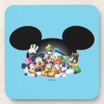 Mickey & Friends   Group in Mickey Ears Coaster