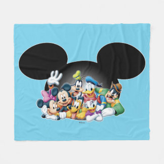 Mickey & Friends | Group in Mickey Ears Fleece Blanket