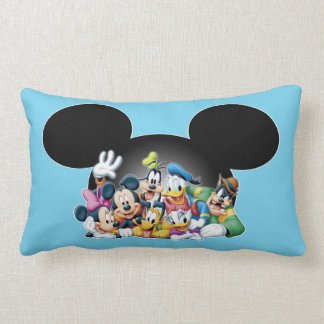 Mickey & Friends | Group in Mickey Ears Lumbar Pillow