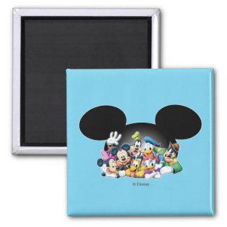 Mickey & Friends | Group in Mickey Ears Magnet